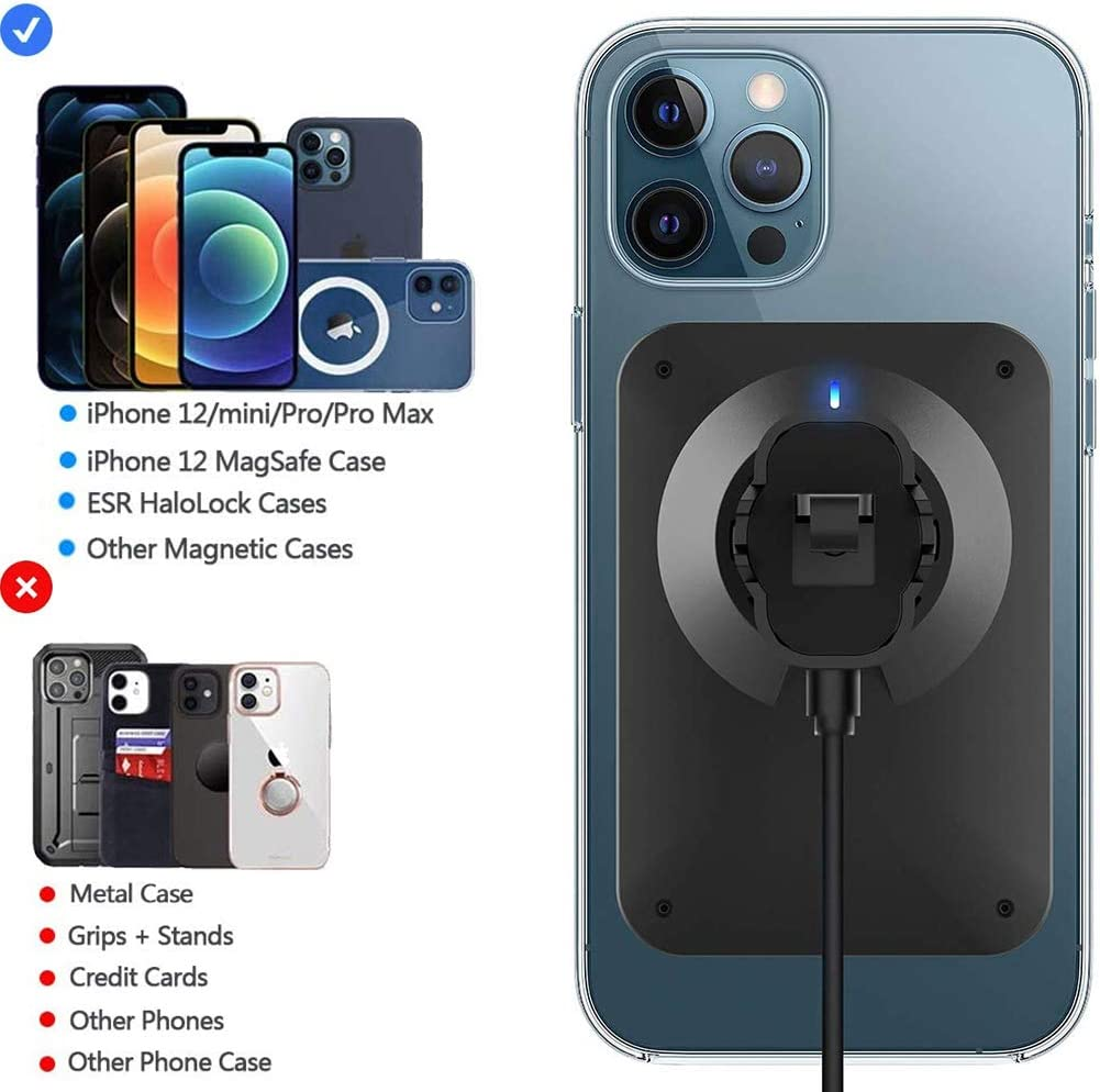 Magnetic Wireless Car Charger Fast Charging Air Vent Cell Phone Holder for Mag-Safe//Magnetic Phone Case Only Auto-Clamping Car Mount Charger Compatible with iPhone 12//12 Mini//12 Pro//12 Pro Max