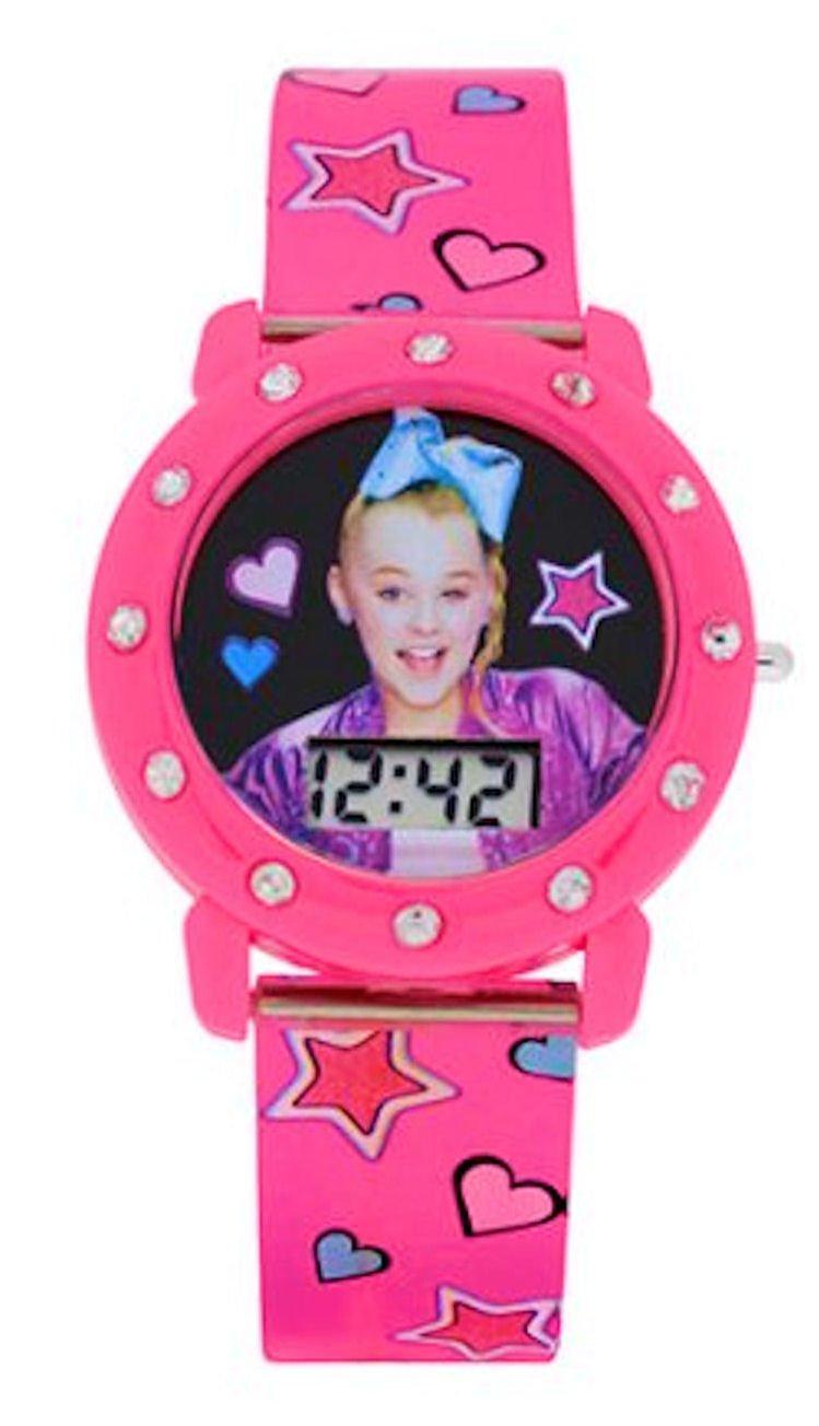 JoJo Siwa Mood Dial Kids Watch (Pink Star Band)