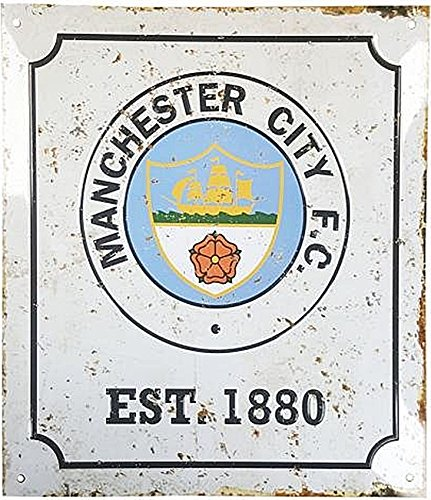 Manchester City F.c. Retro Logo Sign Official Merchandise