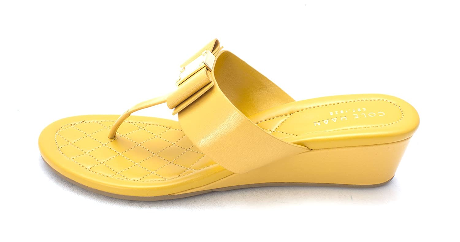 Cole Haan Womens Tali Grand Sandal Open Toe Casual Mineral Yellow Size 60