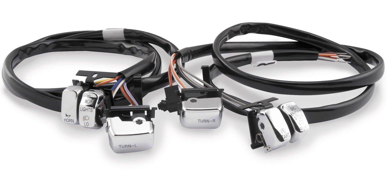Amazon.com: Bikers Choice Handlebar Switch Kit - Chrome 370304 For ...