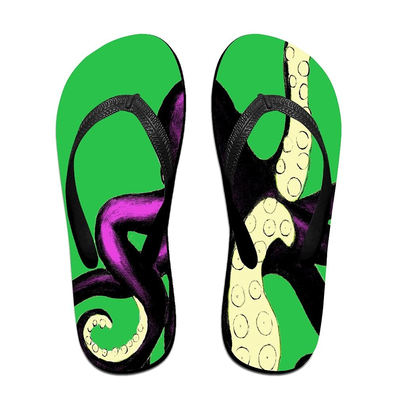 FPDragon Octopus Warhol Purple Unisex Soft Flip-flops Beach Sandals Slippers Classical Thong Sandals r3XSTLhX