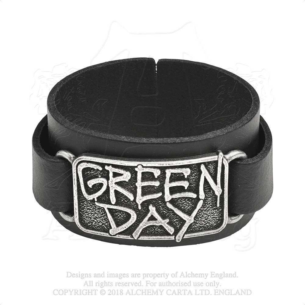 Green Day Alchemy Rocks Leather Wriststrap