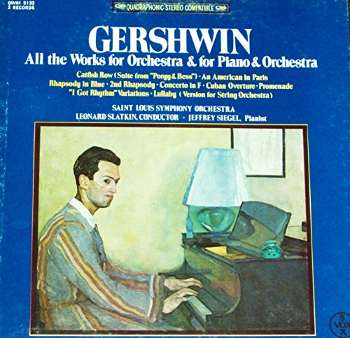 Gershwin - All the Works for Orchestra & for Piano & Orchestra - 12 vinyl 3 LP Box - quadraphonic - Jeffrey Siegel Leonard Slatkin - Vox QSVBX 5132 quad TAS