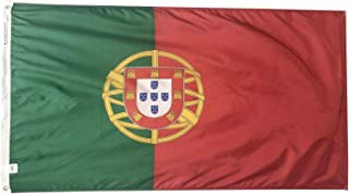 product image for 6x10' Portugal Flag - Durable and Fade Resistant All Weather Nylon, with Canvas Header and Brass Grommets, 4 Rows of Fly End Stitching, Made in USA