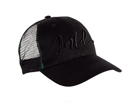 IMTD Designer Curved Mesh Trucker with Famous IMTD Scribble Signature  Embroidery Dubai Ibiza Baseball Cap Black 3e134b3d724