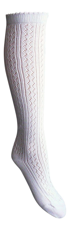 SockenZauber Markenqualität vom Sockenprofi (®) 1 Paar Kniestrümpfe Trachtenstrümpfe Häkellook Landhausmode + 1 Zauberstern