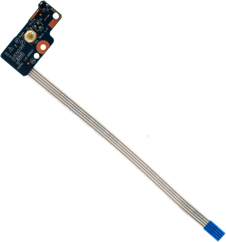 Deal4GO Power Switch Button Board W/Ribbon Cable for HP Pavilion 15-R 15-G 15-S 14-R 14-G 250-G3 255-G3 256-G3 LS-A991P 749650-001