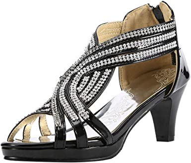 Talon de Danse Latin Escarpins Chaussures IMJONO Femme c5FTJ3Kul1