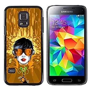 Be Good Phone Accessory // Dura Cáscara cubierta Protectora Caso Carcasa Funda de Protección para Samsung Galaxy S5 Mini, SM-G800, NOT S5 REGULAR! // Gold Dude Sunglasses Summer Flo