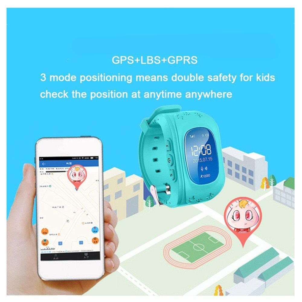 GPS Tracker Niños Kids SmartWatch Reloj de pulsera Locator ...