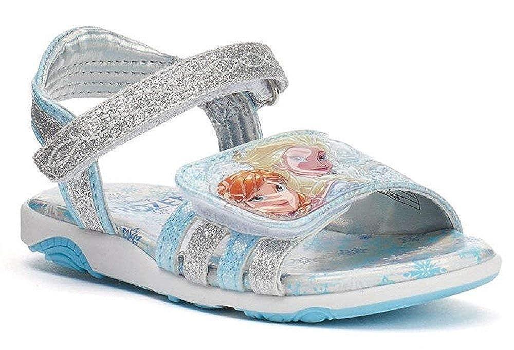 106ce8324b Disney Girl's Frozen Anna & Elsa Light-Up Sandals
