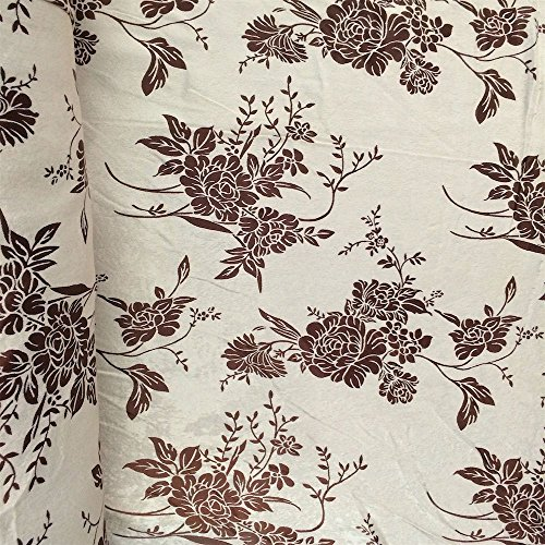 Pappermint Store Brown Damask Velvet Jacquard Brocade Fabric 118