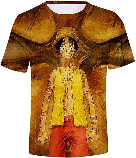HXPainting Unisex Adolescentes Media Manga Corta 3D Impresión Anime One Piece Tony Tony Chopper Nico Robin Monkey D. Luffy Casual Sudaderas Camisetas De Tirantes Tops: Amazon.es: Deportes y aire libre