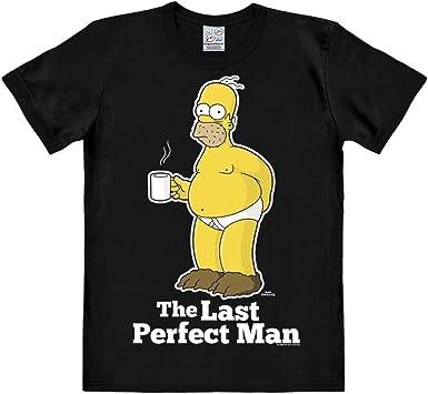 Logoshirt Los Simpson - Homer - El Último Hombre Camiseta - Negro - Diseño Original con Licencia: Amazon.es: Ropa y accesorios