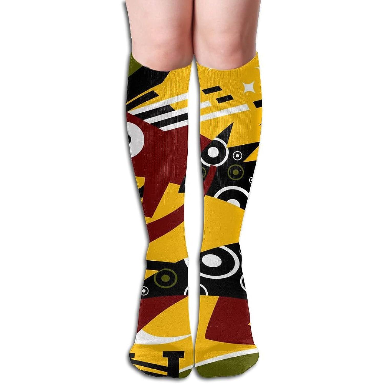 2d Artistic Graphic Big Girls/Women Funny 3D Pattern Knee High Socks Warm Cotton Stockings