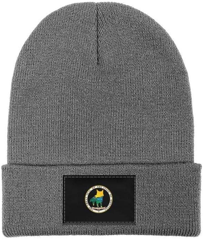 Mens Slouchy Beanie Hat Toboggan Hats Montana Wolf Ski Cap