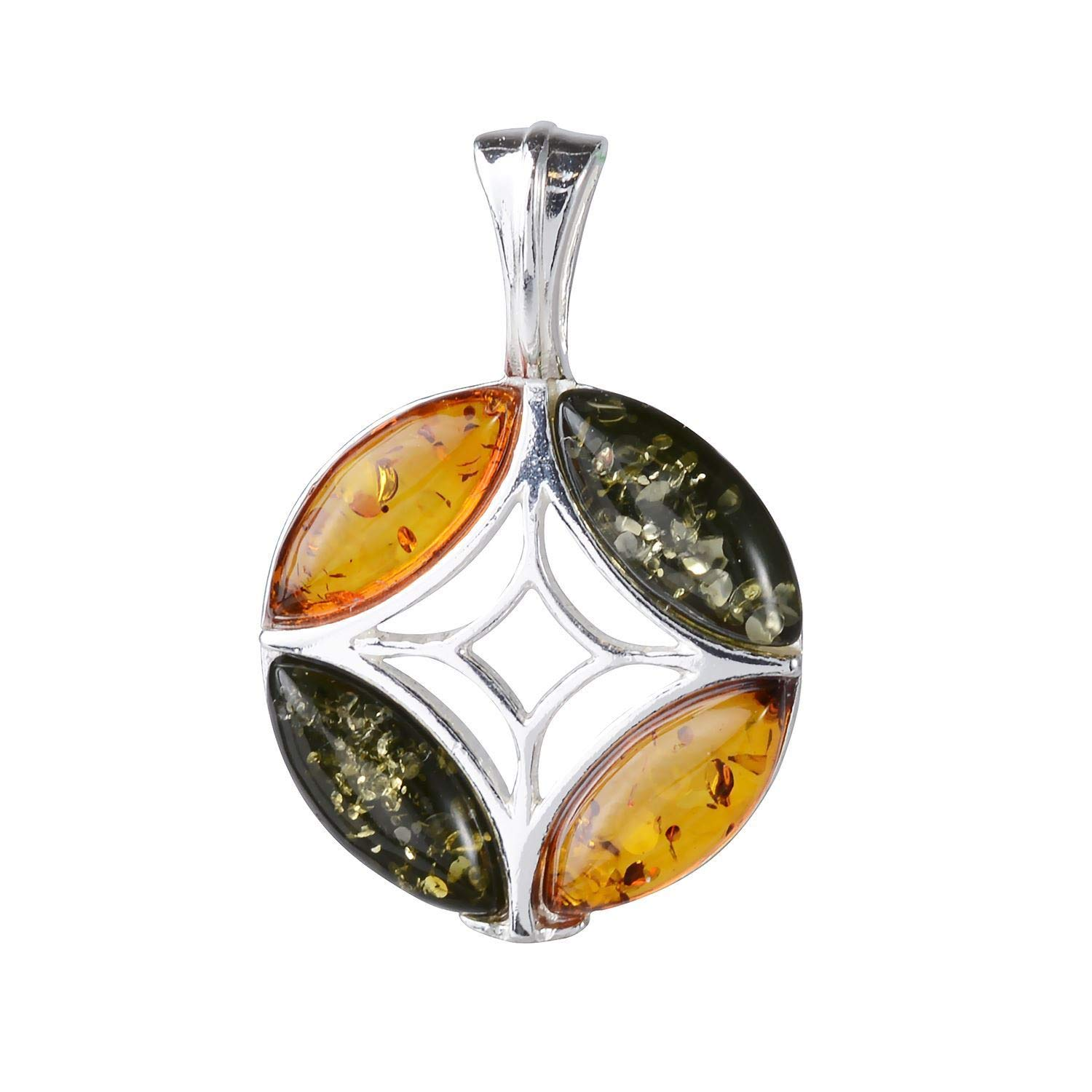 HolidayGiftShops Sterling Silver and Baltic Amber Pendant Aileen