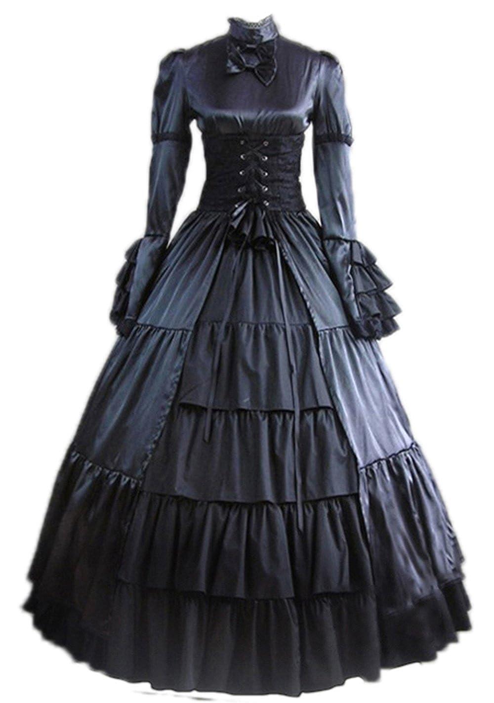 Satin Victorian Dresses
