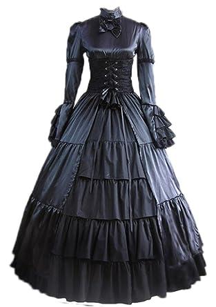 Gothic Victorian Costume Nuoqi Women's Halloween Cosplay Dress