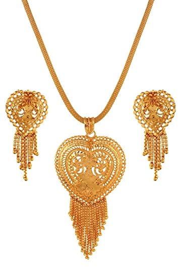 Bridal & Wedding Party Jewelry Hearty Women Bollywood Jewelry Necklace Earrings Set
