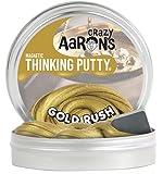 【 磁石に反応する!シリコン製パティ 】 Crazy Aaron's Putty World シンキングパティ スーパー マグネット シリーズ EU安全規格適合 内容量90g レギュラーサイズ Made in USA 日本正規代理店品 【 ゴールド ラッシュ 】 GR020