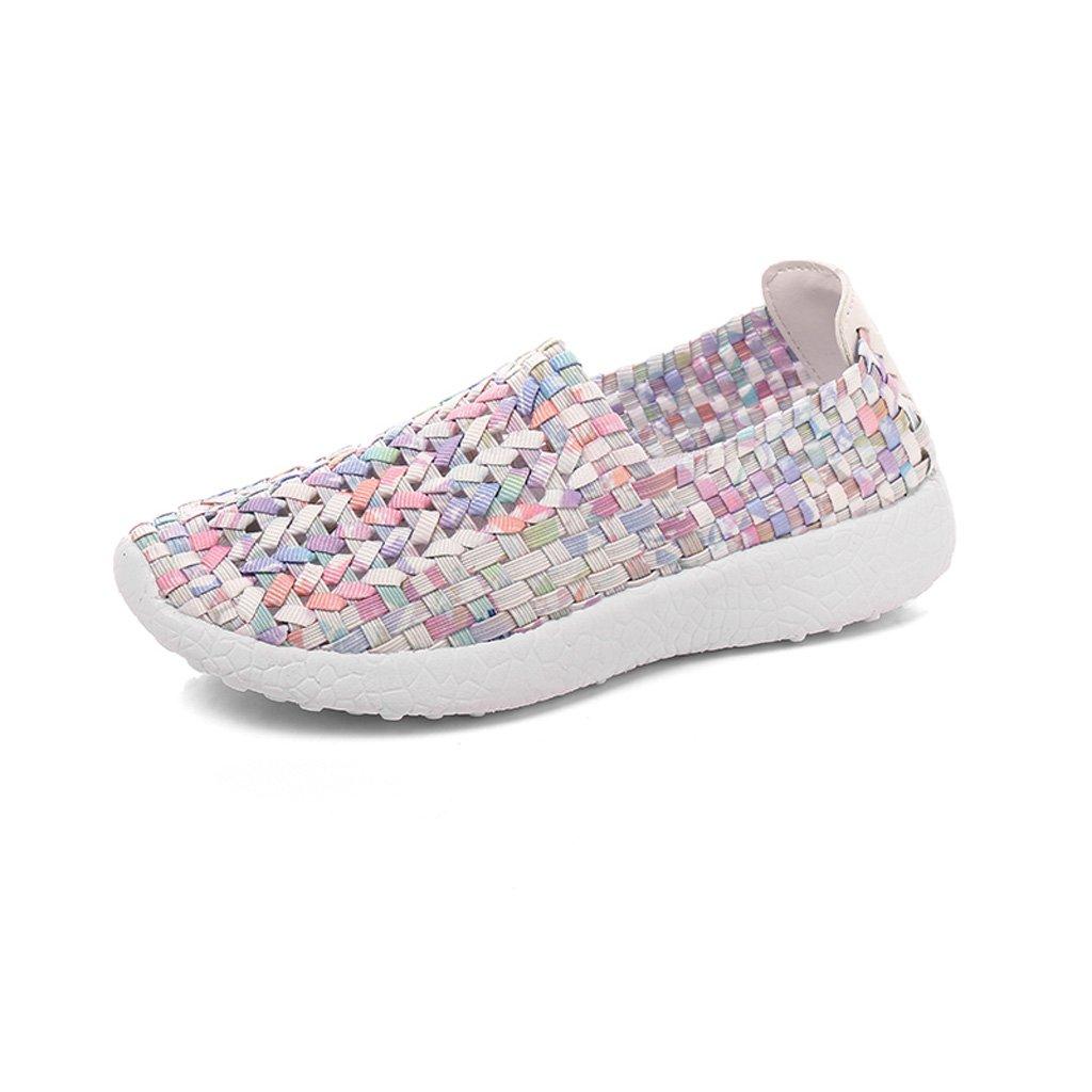 LIUXUEPIN Neuer Stil Stil Stil Wild Frau Atmungsaktiv Gewebt Stoffschuhe Koreanische Version Pedal Faul Lässig Weiße Schuhe 4adf58