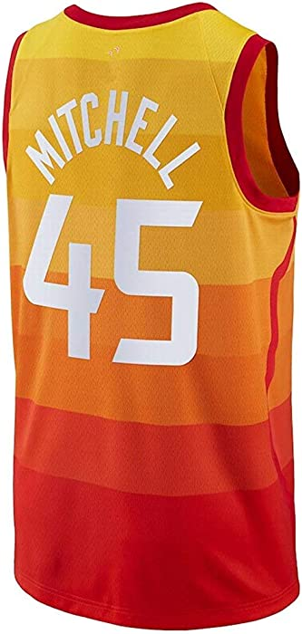 Amazon.com  Outerstuff Donovan Mitchell Orange City Edition Jersey ... 7dc1a3a1200b
