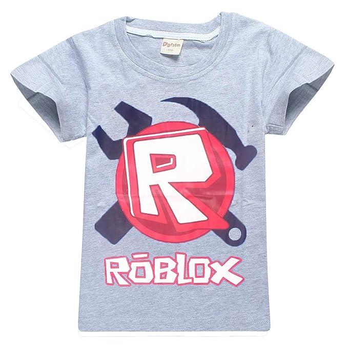 Roblox Camiseta Ropa de Vestir Suave para niños Camisas de Vestir Mangas Cortas Fibra de bambú Elástico Camisetas elásticas niños