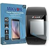 2x Mikvon Film blindé film de protection d'écran pour Polar M600 - Emballage d'origine et accessoires (intentionnellement plus petit comme l'écran, parce qu'il est arqué)
