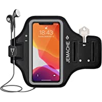 iPhone X/XS/11 Pro Armband, JEMACHE Water Resistant Gym Running Workouts Sports Cell Phone Arm Holder Band for iPhone X/XS, iPhone 11Pro (Black)