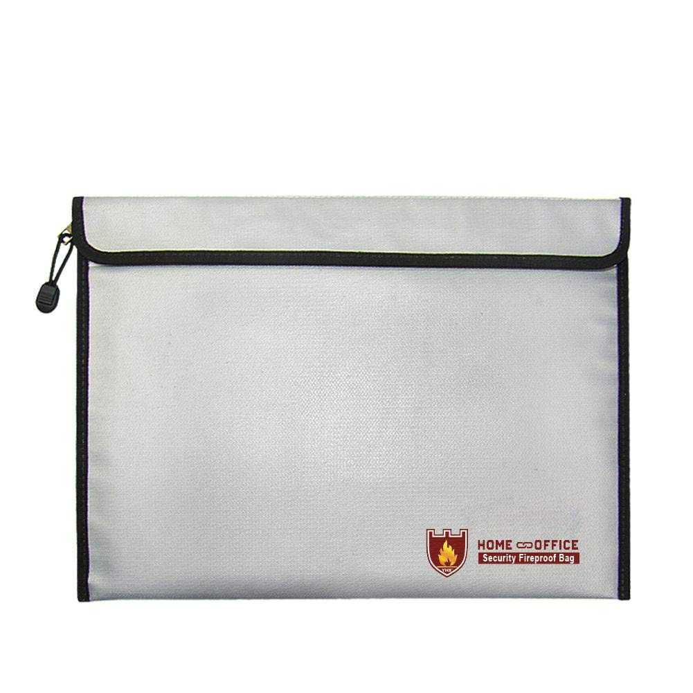 TODAYTOP New Generation Business Fireproof Briefcase Double-Sided Fire Safe File Bag Fireproof Waterproof Office File Bag Financial Bill Fireproof Bag/B