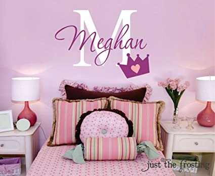 Amazon.com: Girly Crown Wall Decals for Girls Bedroom Wall Stickers ...