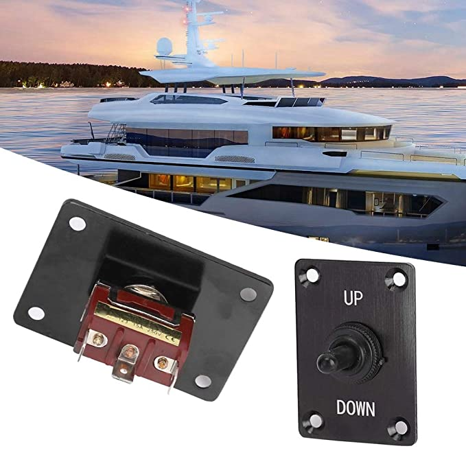 Toggle Switch Panel,DC12V Toggle Switch On//Off Up//Down Trim Tab Panel Breaker for RV Caravan Marine Boat