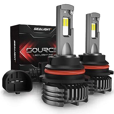 SEALIGHT 9007 LED Headlight Bulbs, HB5 LED Headlight Bulb, High Low Beam, 12,000 Lumens High Brightness, 6000K Cool White, S3 Series: Automotive