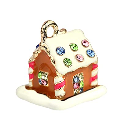 Creative Diy Gingerbread House Charms Pendants Wholesale Set Of 3 Mh172