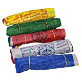 Tibetan Wind Horse Lungta Prayer Flags - 5 Vibrant Color Sets - Pack of 50 offers