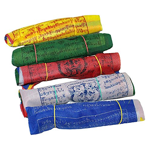 Maha Bodhi Tibetan Wind Horse Lungta Prayer Flags - 5 Vibrant Color Sets 6 x 6 Inches- Pack of - Make Prayer Tibetan Flags