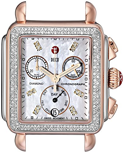 MICHELE-Womens-MW06P01D2046-Deco-Analog-Display-Swiss-Quartz-Two-Tone-Watch-Head