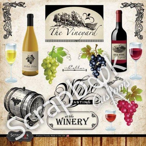 The Vineyard Collection 12 x 12 Scrapbook Sticker Sheet by Scrapbook - Vineyard Collection