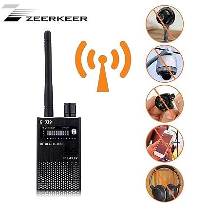 ZEERKEER - Detector de señal RF (cámara Oculta, antirespía, Detector de Llamadas,