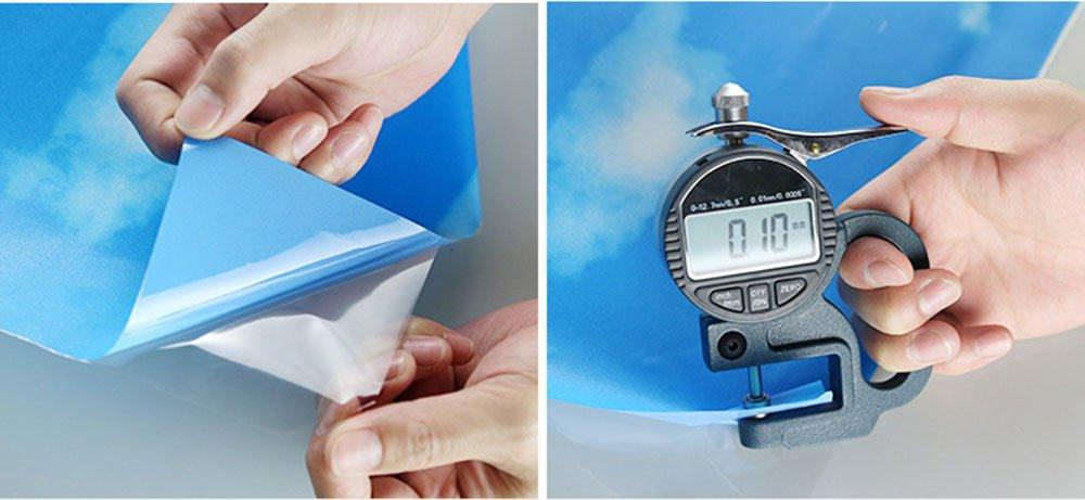 ASIBG Home Blue Sky White Clouds Glass Film Bathroom Window Stickers Office Light Opaque Sunscreen Stickers,Wide90Cm × Length100Cm