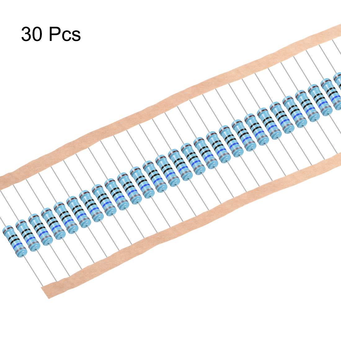 Sourcingmap Widerstand axiales Kabel 4 B/änder f/ür DIY elektronische Projekte und Experimente Kohlenstofffolie 5/% Toleranz 5,6 Ohm 1 W