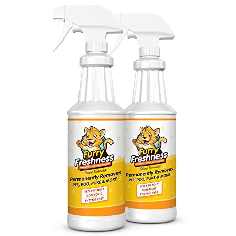Buy FurryFreshness Pet Stain & Smell Remover - Feline Formula (2 Pack)  Online at Low Prices in India - Amazon.in