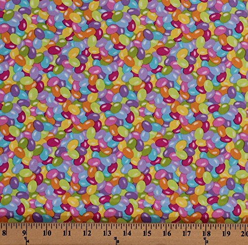 Field's Fabrics Cotton Jelly Beans Colorful Candy Candies Ea