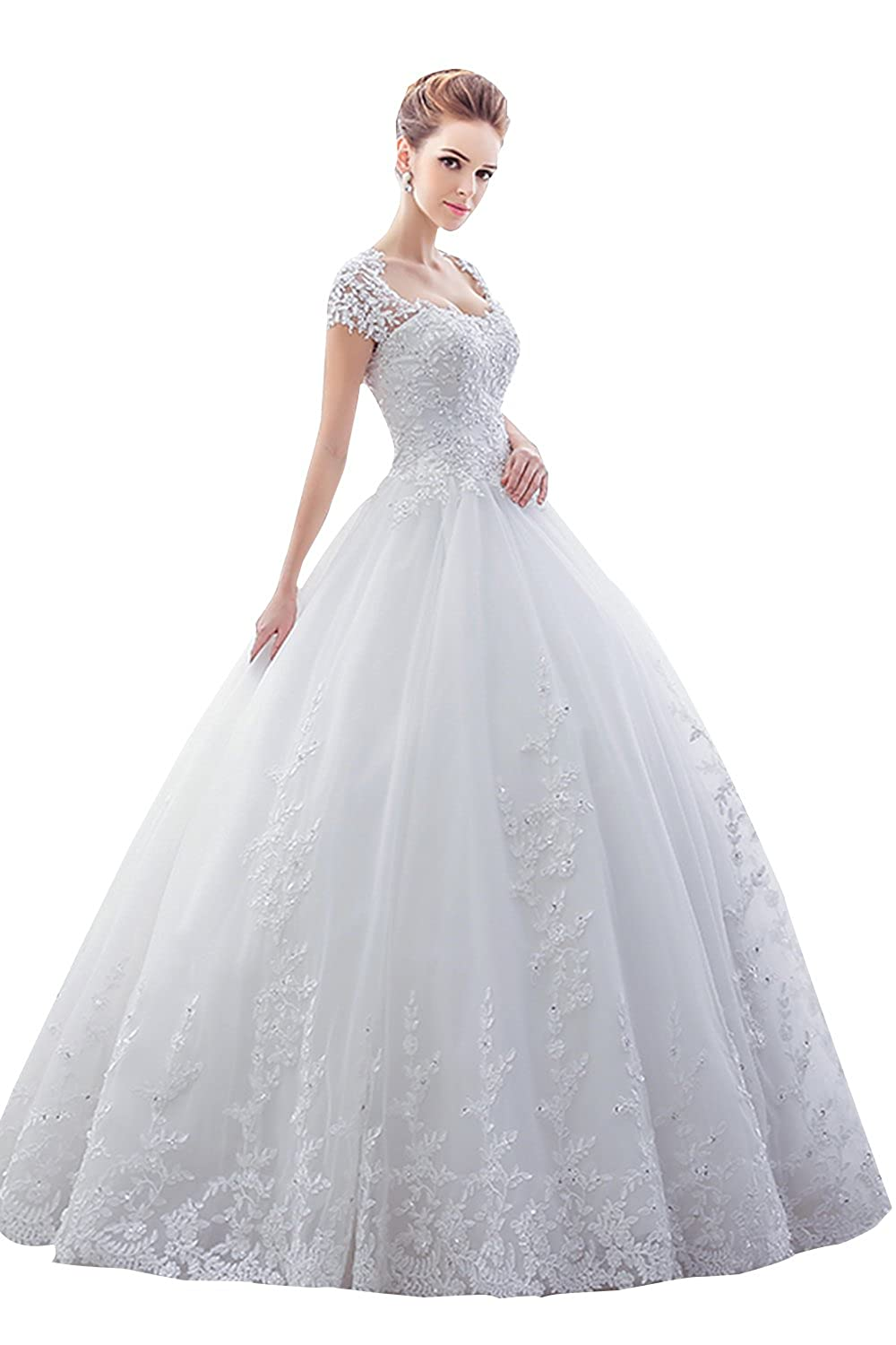2f290ac722c Specifics  Sweetheart neckline.Floor length dresss. Lace appliques Beads.Silhouette  Ball gown.Lace up wedding bridal gown