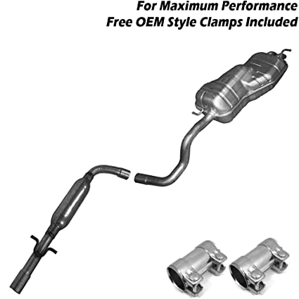 amazon com: resonator pipe muffler exhaust system kit fits: 1999-2003 vw  golf 2 0l: automotive