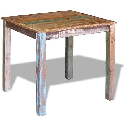 Amazon.com - Festnight Retro Dining Table Reclaimed Wood ...