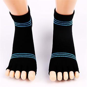 Aszhdfihas Calcetines de Yoga Medias de Goma Antideslizantes para los Dedos Calcetines Deportivos de algodón Abiertos