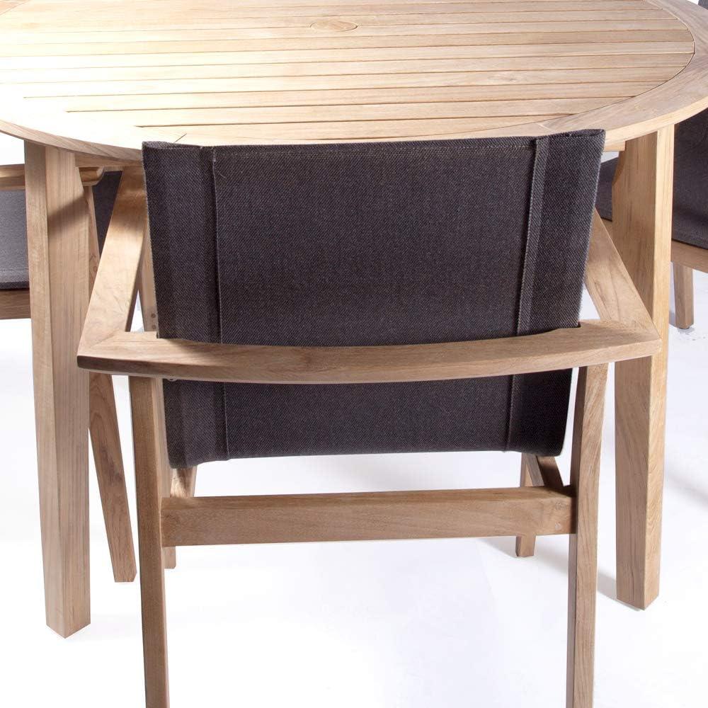 Amazon.com: POVL - Juego de comedor de teca rectangular ...